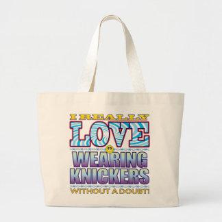 Wearing Knickers Love Face Jumbo Tote Bag