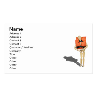 Wearing Life Vest Double-Sided Standard Business Cards (Pack Of 100)
