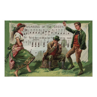 Wearing of the Green Sheetmusic Poster