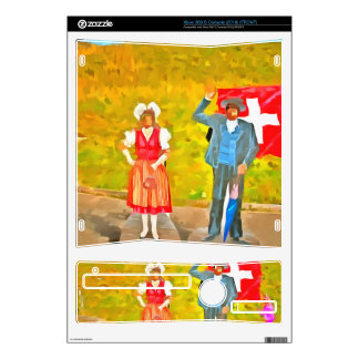 Wearing Swiss traditional costumes Skin For Xbox 360 S