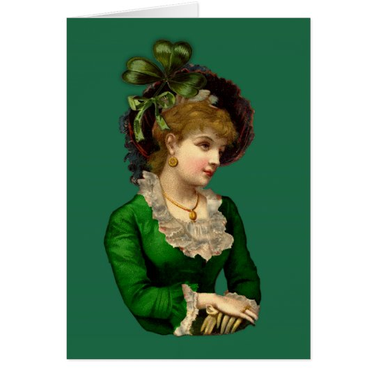 Wearing the Green on St Patrick's Day Card