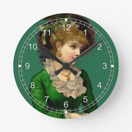 Wearing the Green on St Patrick's Day Round Wall Clock
