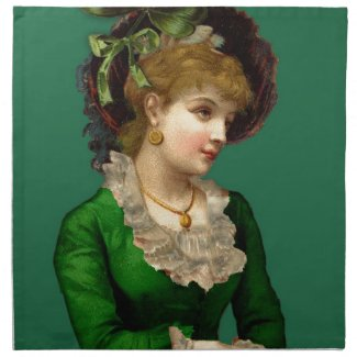 Wearing the Green on St Patrick's Day Cloth Napkin
