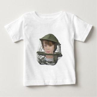 WearingBeeKeeperHat100712 copy.png Baby T-Shirt