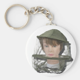 WearingBeeKeeperHat100712 copy.png Basic Round Button Keychain