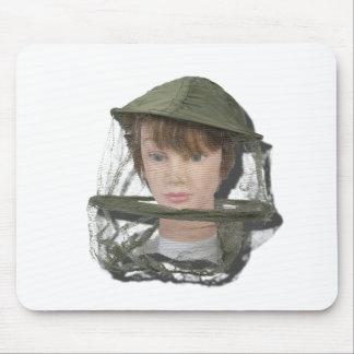 WearingBeeKeeperHat100712 copy.png Mouse Pad
