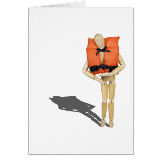 WearingLifeVest081212.png Greeting Card
