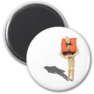 WearingLifeVest081212.png 2 Inch Round Magnet