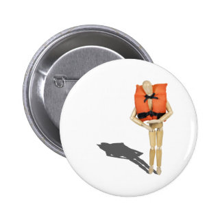 WearingLifeVest081212.png Pinback Button