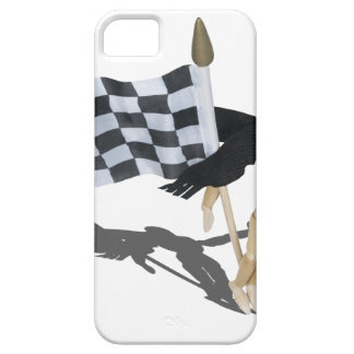 WearingScarfCheckeredFlag090912.png iPhone 5 Case