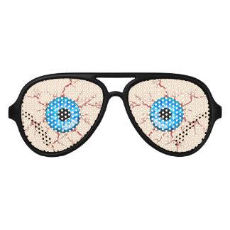 Weary Drunk Eyes Aviator Sunglasses