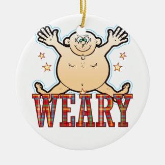 Weary Fat Man Ceramic Ornament