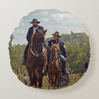 Weary Union Soldiers Round Pillow