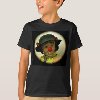 Weary Willie Sad FClown T-shirt, Kids Black Medium T-Shirt