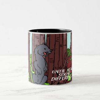 weasel alert Two-Tone coffee mug