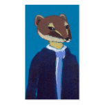 Weasel art for business weasels!  In suits. Double-Sided Standard Business Cards (Pack Of 100)