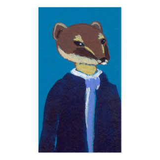 Weasel art for business weasels!  In suits. Business Cards