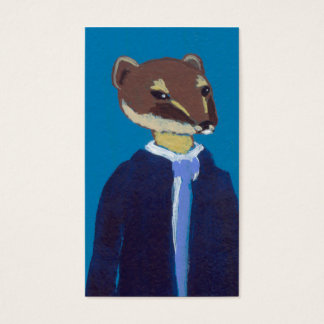 Weasel art for business weasels!  In suits. Business Card