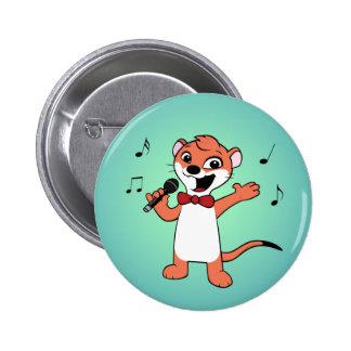 weasel cartoon 2 inch round button