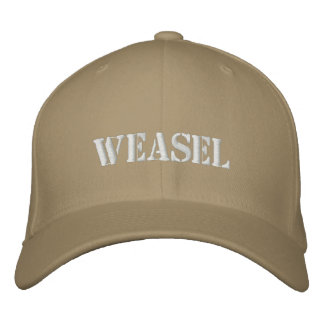WEASEL EMBROIDERED BASEBALL HAT
