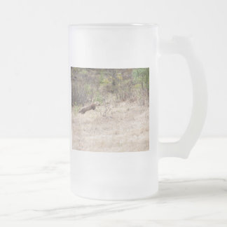 Weasel Frosted Glass Beer Mug