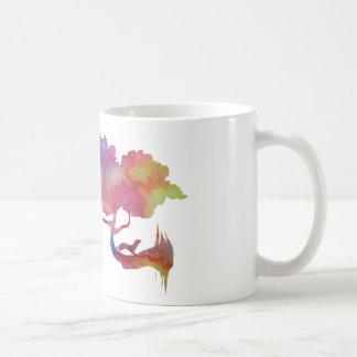 Weasel on a tree coffee mug