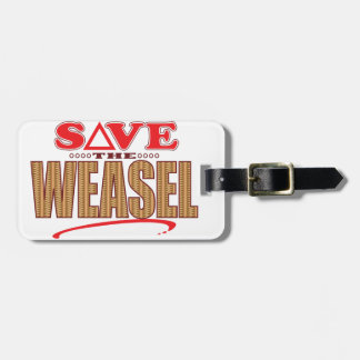 Weasel Save Luggage Tag