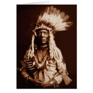 Weasel Tail - A Piegan Blackfoot - 1900 Card