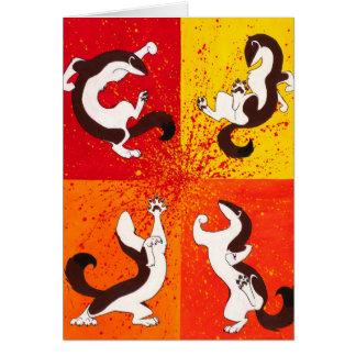 """""""Weasel War Dance"""" Greeting Card"""