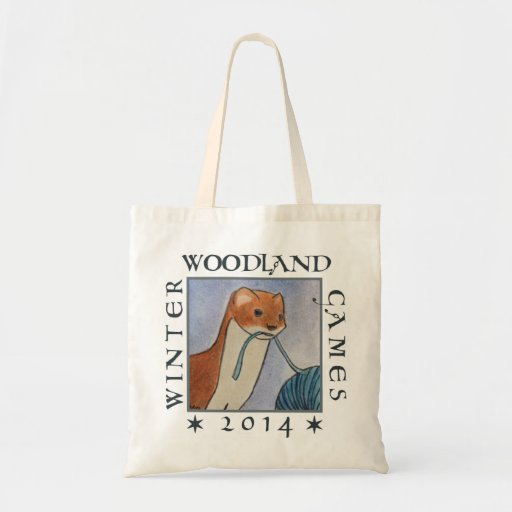 weasel wip tote for the winter woodland games 2014 budget tote bag