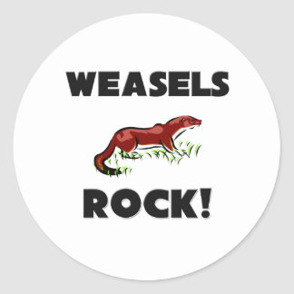 Weasels Rock Classic Round Sticker