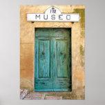 Weathed Museo Door Poster