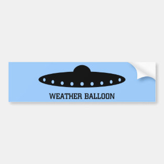Weather Balloon UFO Bumper Stickers