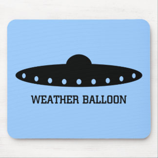 Weather Balloon UFO Mouse Pad