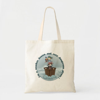 Weather beaten and dangerous pirate tote bag