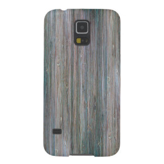 Weather-beaten Bamboo Wood Grain Look Case For Galaxy S5