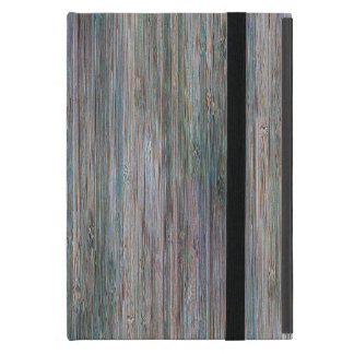 Weather-beaten Bamboo Wood Grain Look iPad Mini Case