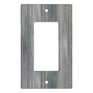 Weather-beaten Bamboo Wood Grain Look Light Switch Cover