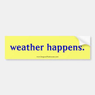 """""""Weather"""" bumper sticker"""