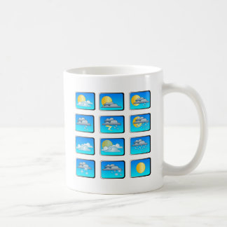 Weather buttons theme coffee mug
