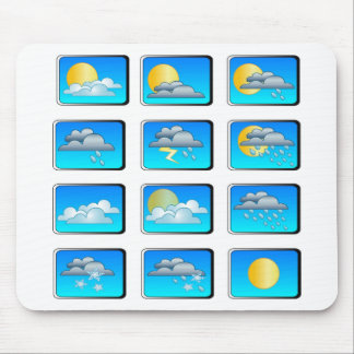 Weather buttons theme mouse pad