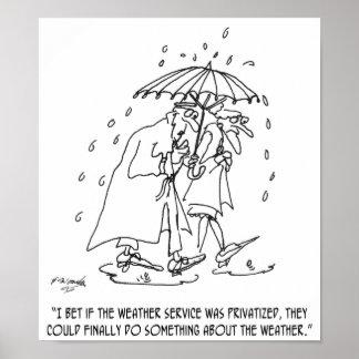 Weather Cartoon 1275 Poster
