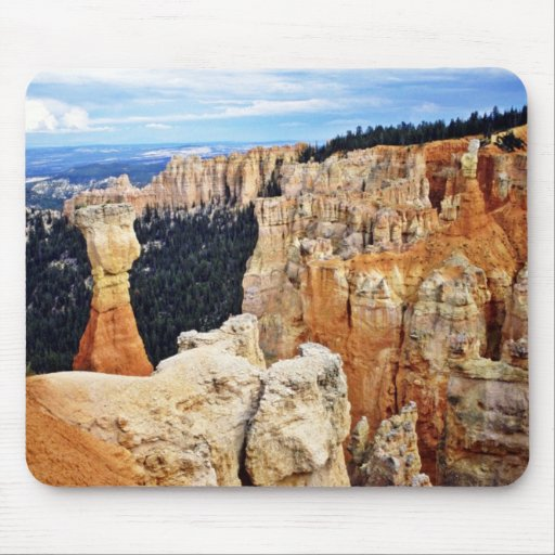 Weather Carved Pinnacles - Bryce Canyon Mouse Pad
