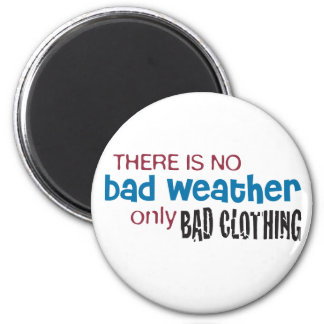 Weather & Clothing 2 Inch Round Magnet