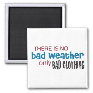 Weather & Clothing 2 Inch Square Magnet