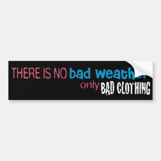 Weather & Clothing Bumper Sticker