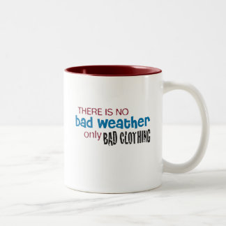 Weather & Clothing Two-Tone Coffee Mug