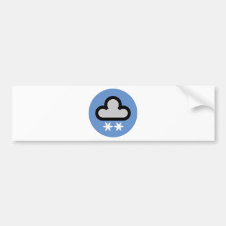 Weather Cloud Symbol Bumper Sticker
