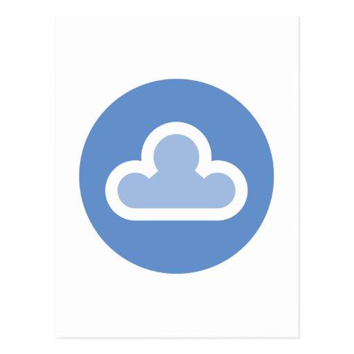 Weather Fluffy Cloud Symbol Postcard