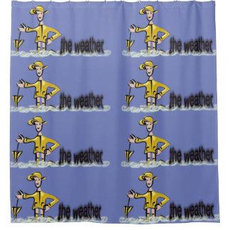Weather Forecast in rainwear Shower Curtain